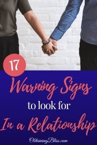 Warning Signs in a Relationship
