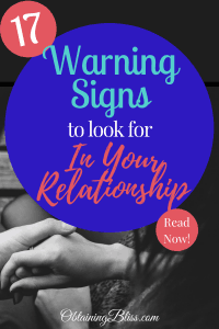 Warning signs to look for in a relationship