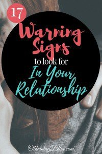 Warning Signs of Abusive relationship