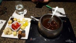dessert at the melting pot