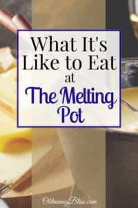 This fondue way of dining is definitely an experience. Read what it's like to eat at the Melting Pot. #themeltingpot #fondue #finedining #food #delicious #traveldining #review