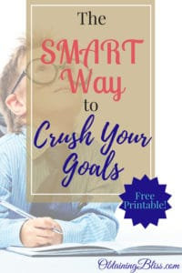 If you're struggling to achieve your goals you need to check out this post! I teach you the SMART Way to Crush Goals. Finally accomplish those goals you've been setting. Plus get a FREE downloadable worksheet! #goals #smartgoals #personaldevelopment #personalgrowth #success #succeed #mindset #getshitdone #achieve #greatness