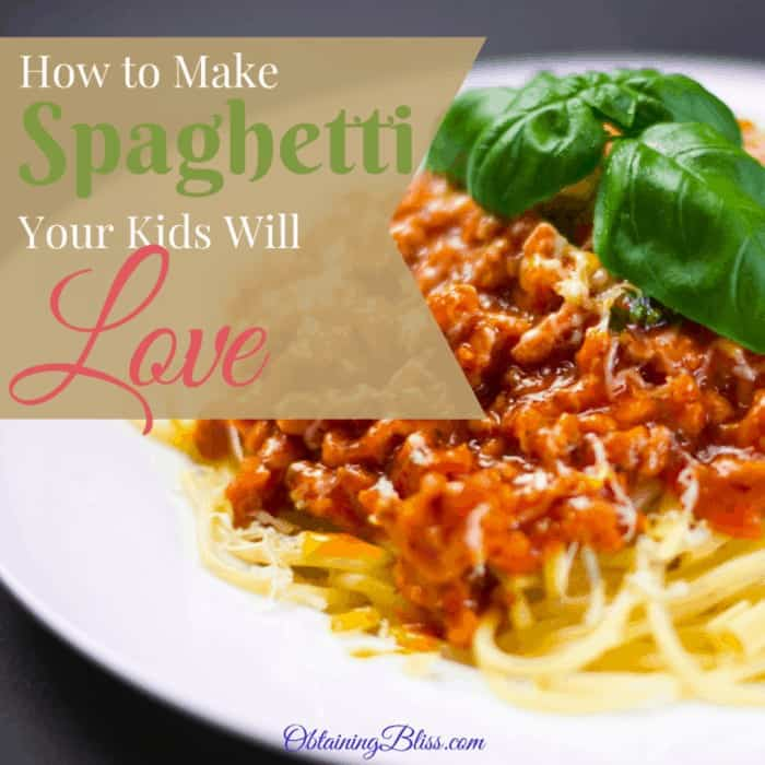 Kid Approved Homemade Spaghetti