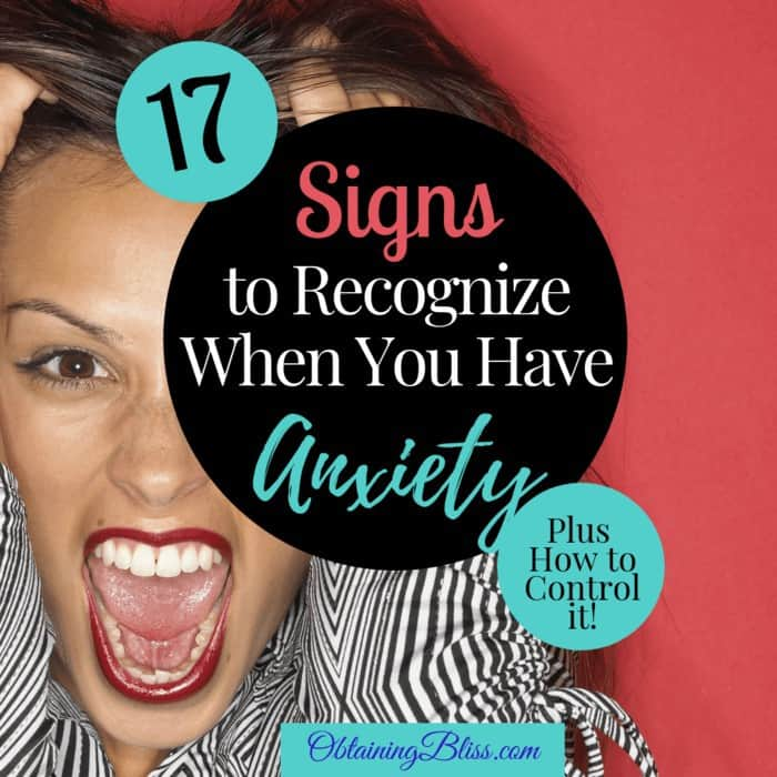 Recognize Anxiety