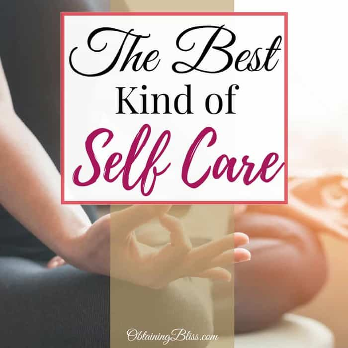 With all the options for taking care of yourself, sometimes the best kind of self-care is something obvious, yet difficult to see. Check out this post on the best kind of self-care.
