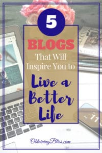 Read 5 blogs that I know will inspire you to live a better life. Each blog provides so much value on personal growth you'll truly be inspired and motivated. #blogging #inspiration #motivation #happy #life #personalgrowth