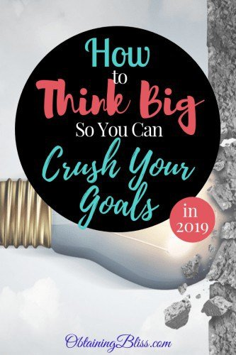 Learn how you can set BIG Goals (outside your comfort zone) to crush your goals in 2019!